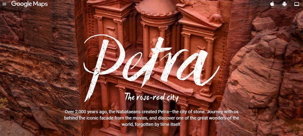 خرائط جوجل تتيح الآن استكشاف الأماكن الأثرية في الأردن - صدى التقنية
