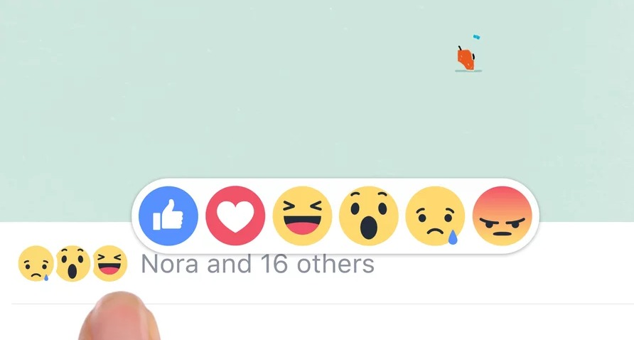 Reactions new facebook like