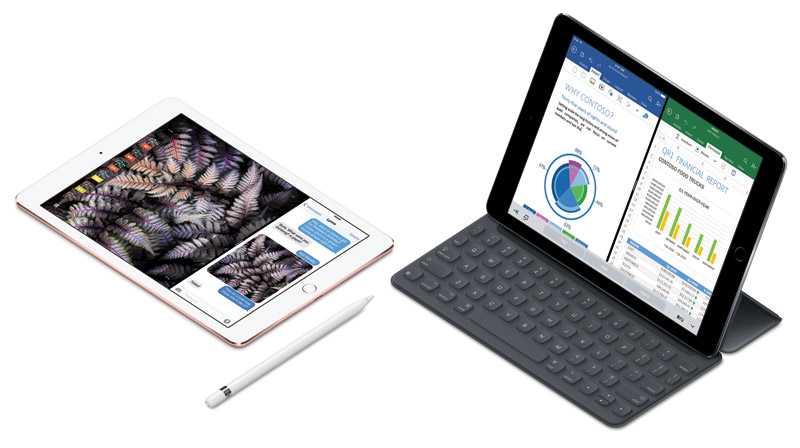 يأتي كل من جالاكسي Tab S3 وايباد برو مع قلم رقمي وغطاء مدمج به لوحة مفاتيح