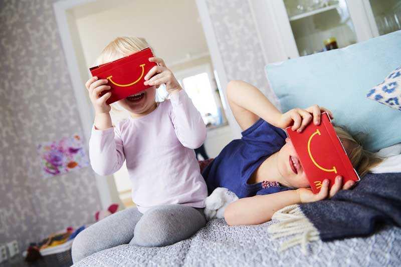 HappyGoggles صندوق ماكدونالدز هابي ميل يتحول لنظارة واقع افتراضي بخطوات بسيطة