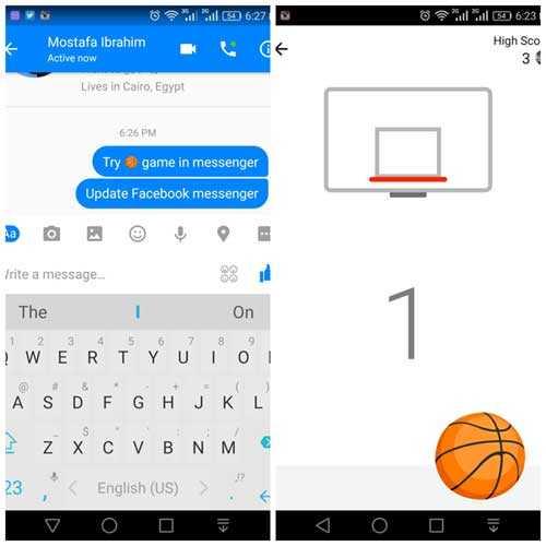 تحدي أصدقائك في كرة السلة من خلال فيس بوك ماسنجر