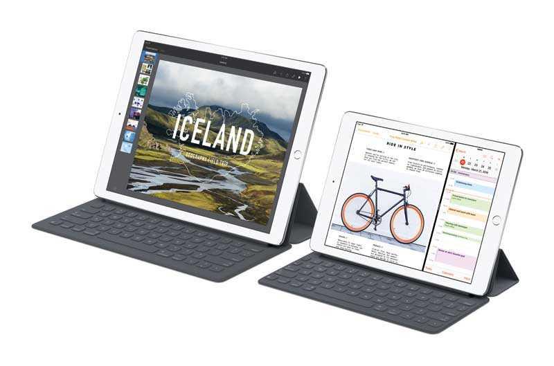 ايباد برو إلى جانب ايباد برو الجديد بشاشة أصغر قياسها 9.7 بوصة