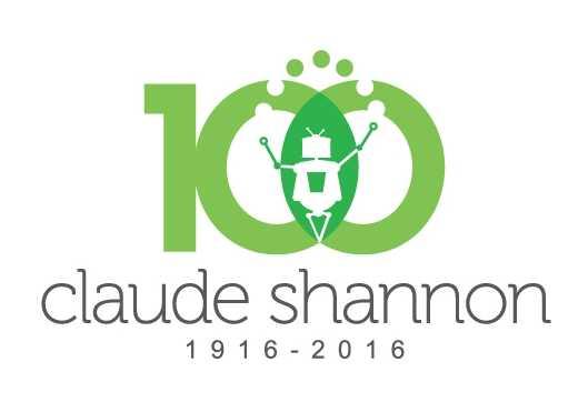 Claude_Shannon_Centenary_Logo شعار الاحتفال بمئوية كلود شانون