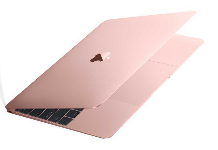اللون الذهبي الوردي من ماك بوك الجديد