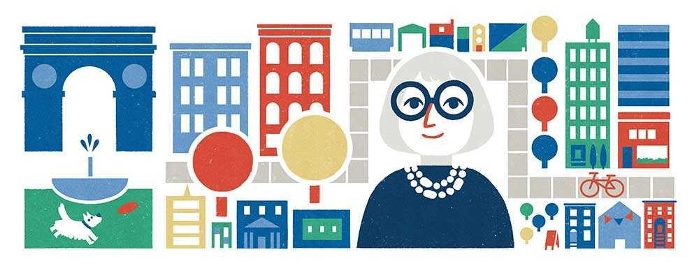 جوجل تحتفل بالذكرى الـ 100 لميلاد جاين جاكوبز