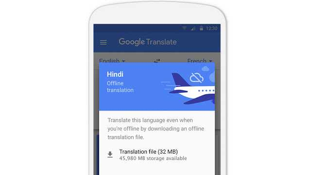 offline mode google translate