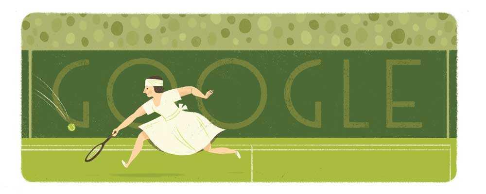 جوجل تحتفل بذكرى ميلاد سوزان لنجلن Suzanne Lenglen