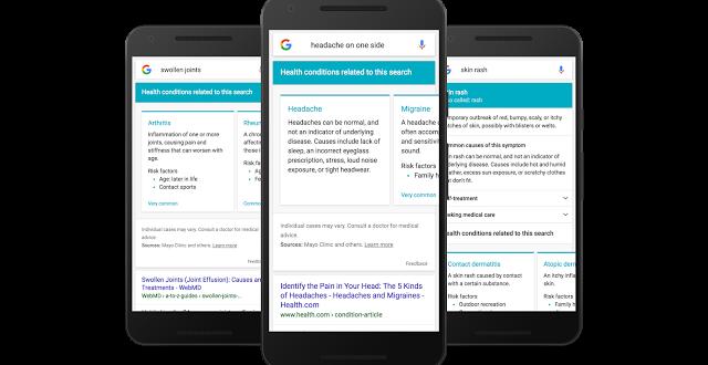 جوجل يوفر الآن معلومات صحية عند البحث عن أعراض مرضية