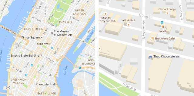 جوجل Maps تحصل على تصميم جديد أفضل