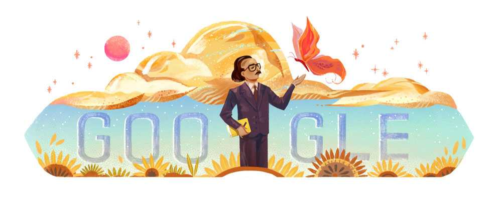 جوجل تحتفل بذكرى ميلاد الشاعر اللبناني أنسي الحاج