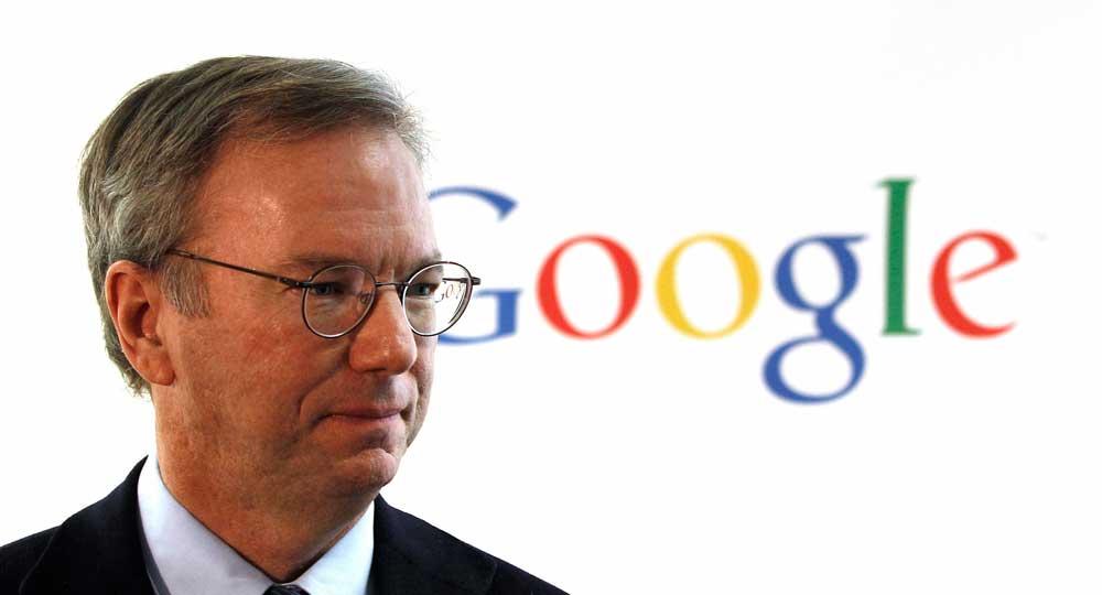 انضم إريك شميدت إلى شركة Google