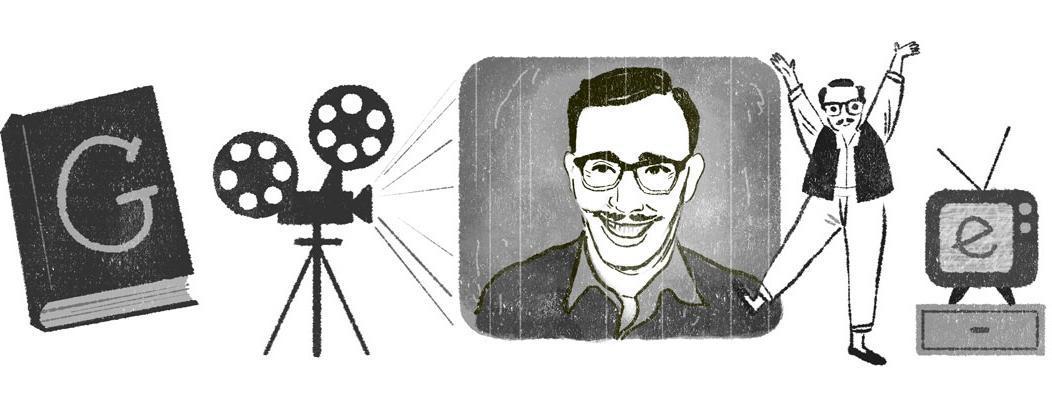 جوجل تحتفل بذكرى ميلاد الفنان الكبير فؤاد المهندس