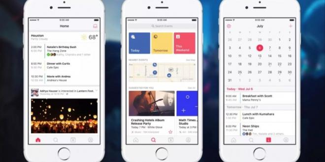 events: تطبيق تقويم جديد من فيس بوك لمتابعة اخر الأحداث