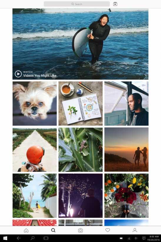 تطبيق انستجرام Instagram متوفر الآن لأجهزة ويندوز 10
