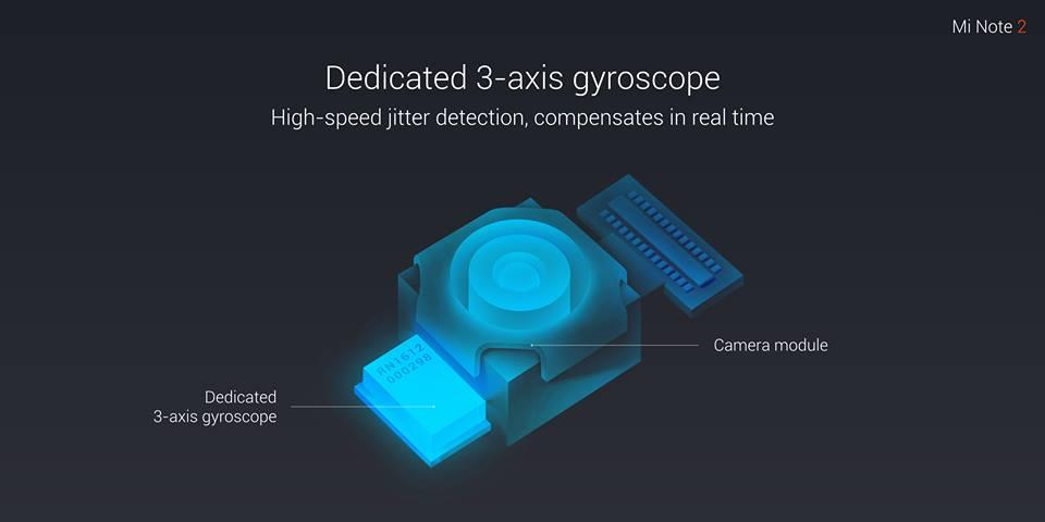 mi note 2 ميزة التثبيت البصري في كاميرا