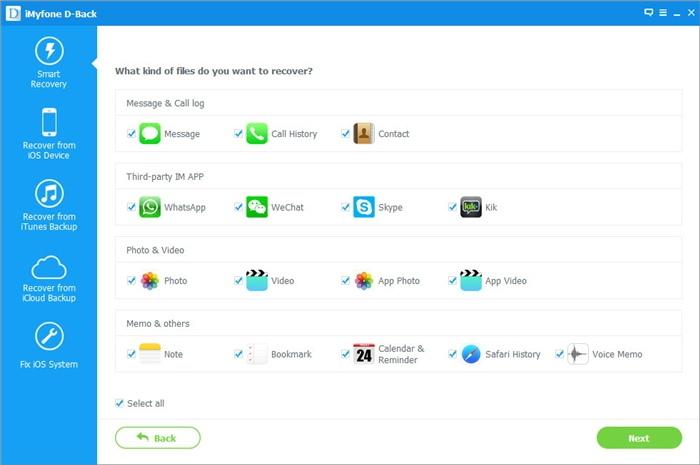 يتيح iMyfone D-Back استعادة رسائل واتساب وسكايب