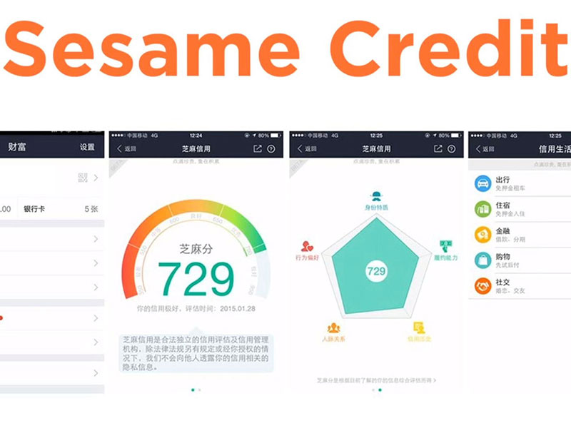 يشبه نظام Sesame Credit شاشات العرض في رواية 1984 التي تراقب سلوك المواطنين