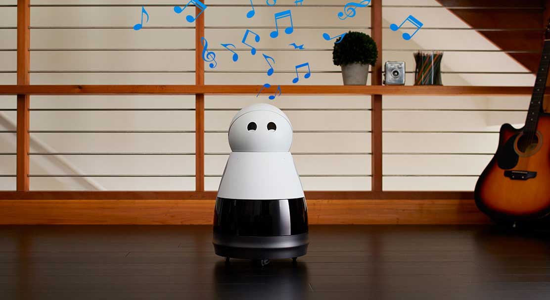 kuri يمكنه بث الموسيقى والأغاني