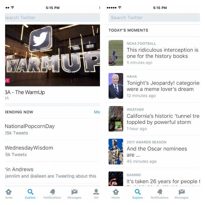 Explore: ميزة جديدة من تويتر تسهل العثور على الأكثر رواجا
