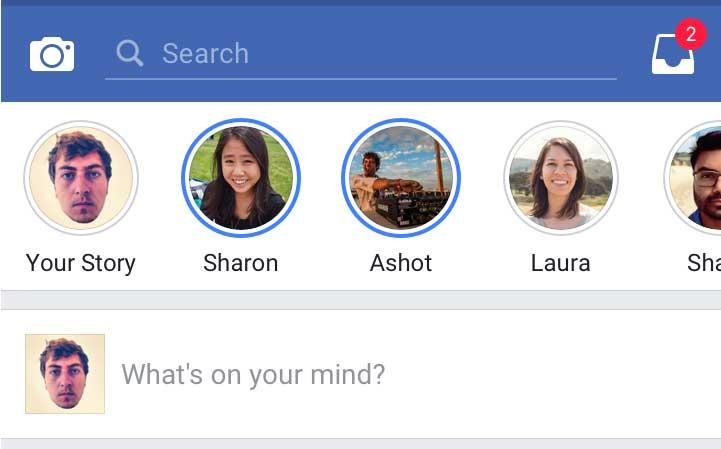فيس بوك تختبر Facebook Stories لمنافسة سناب شات