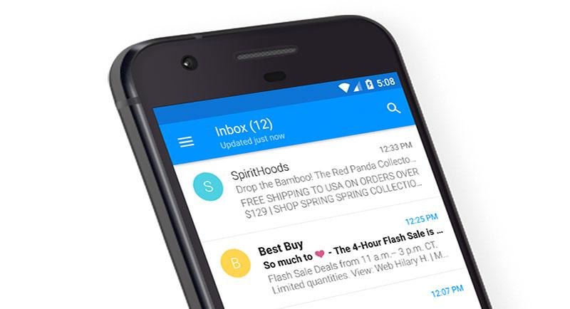 Email: تطبيق مميز لإدارة حسابات البريد الإلكتروني متوفر الآن لأجهزة أندرويد - صدى التقنية