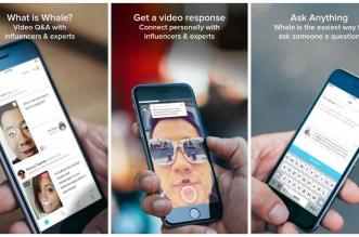 Whale: تطبيق لطرح الأسئلة على المؤثرين والحصول على إجابات بالفيديو
