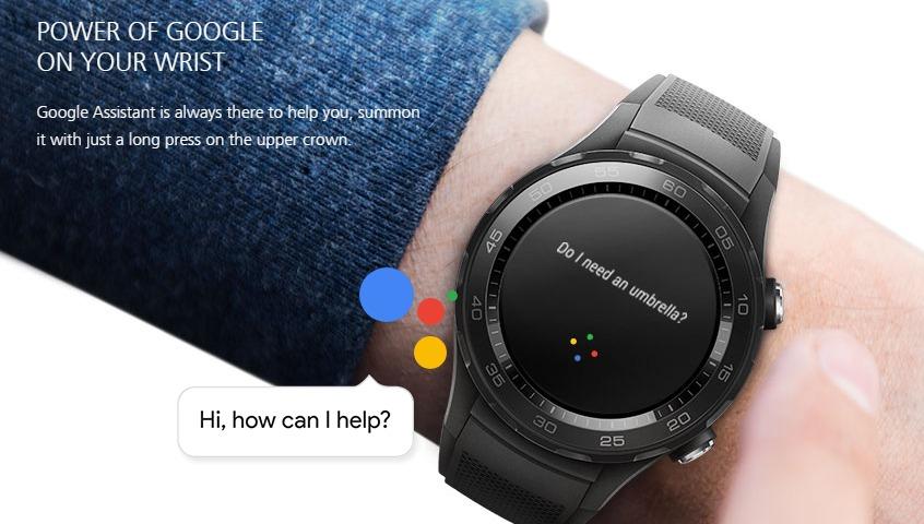 تدعم ساعة Huawei Watch 2 مساعد جوجل الصوتي