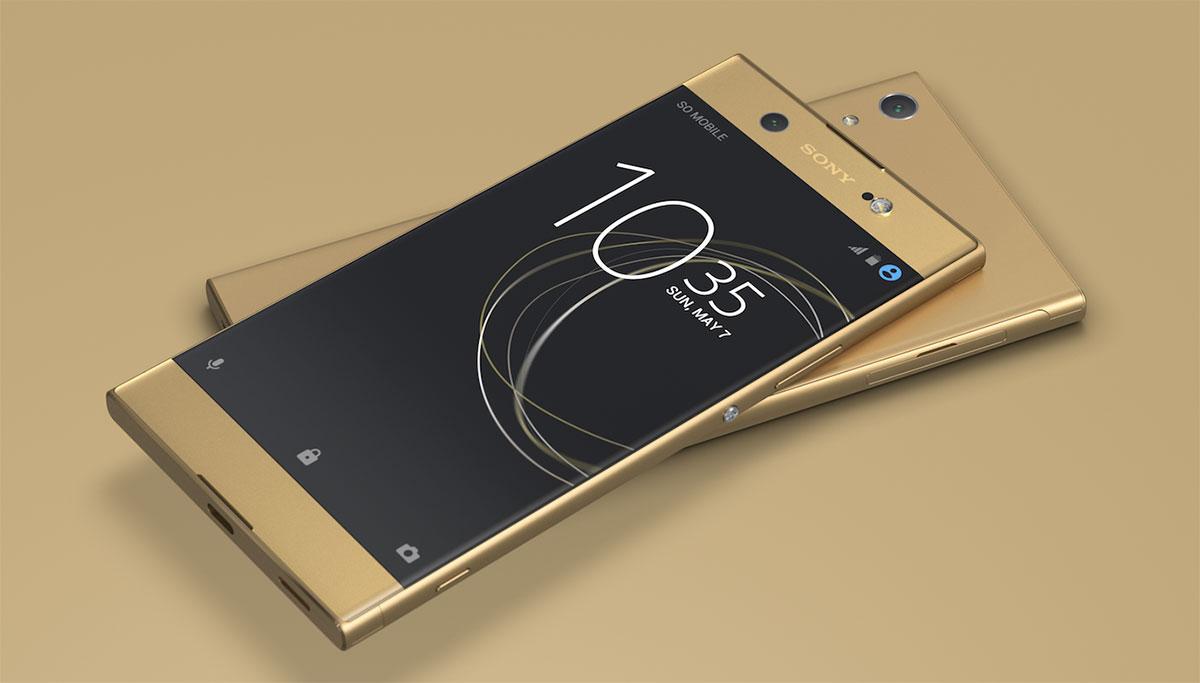Xperia XA1 Ultra باللون الذهبي