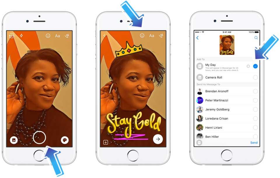 Messenger Day: كيف تعمل ميزة فيس بوك ماسنجر الجديدة المشابهة لسناب شات؟