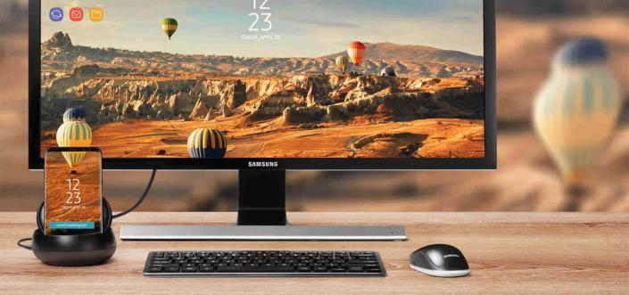 Samsung DeX توفر واجهة مخصصة من أندرويد للعرض على شاشة كبيرة