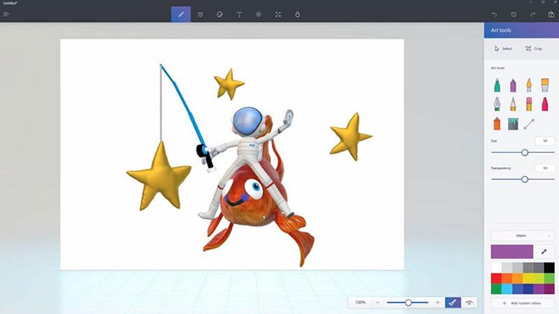 برنامج Paint 3D في تحديث ويندوز 10 الجديد Creators Update
