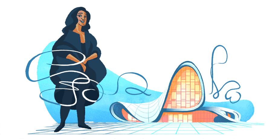 جوجل تحتفل بذكرى المعمارية الشهيرة زها حديد