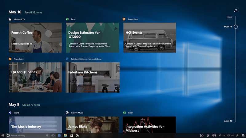 يحمل Windows 10 Fall Creators ميزة جديدة باسم TimeLine