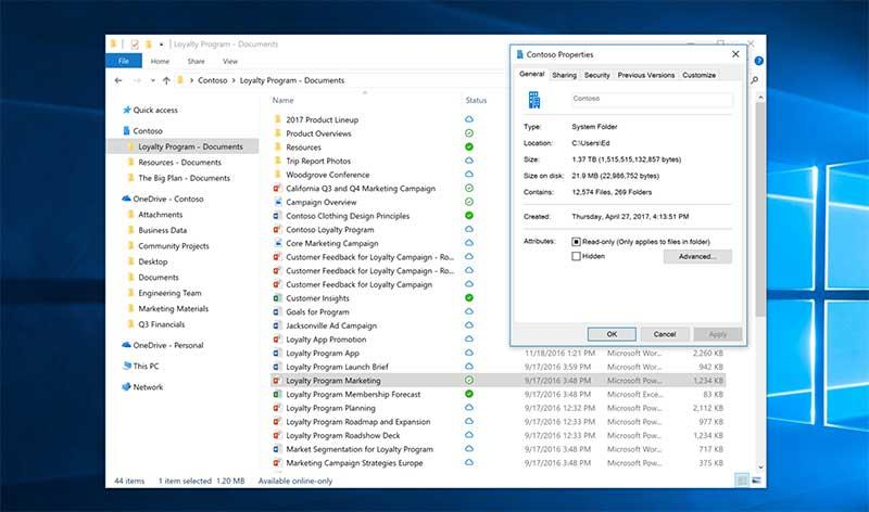 ميزة OneDrive Files On-Demand