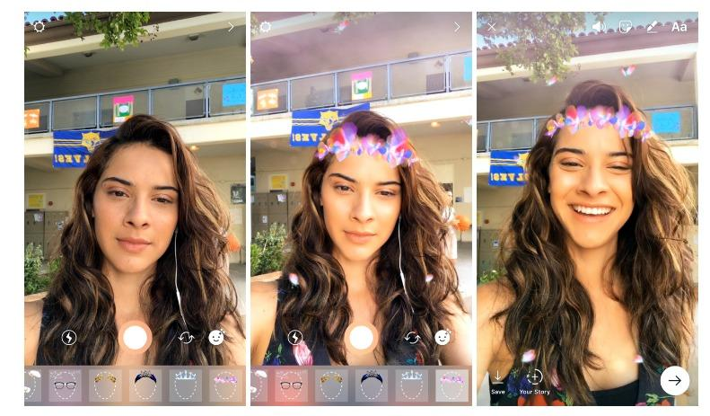 فلاتر الوجه face filters