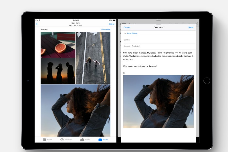 iOS 11 Preview drag and drop