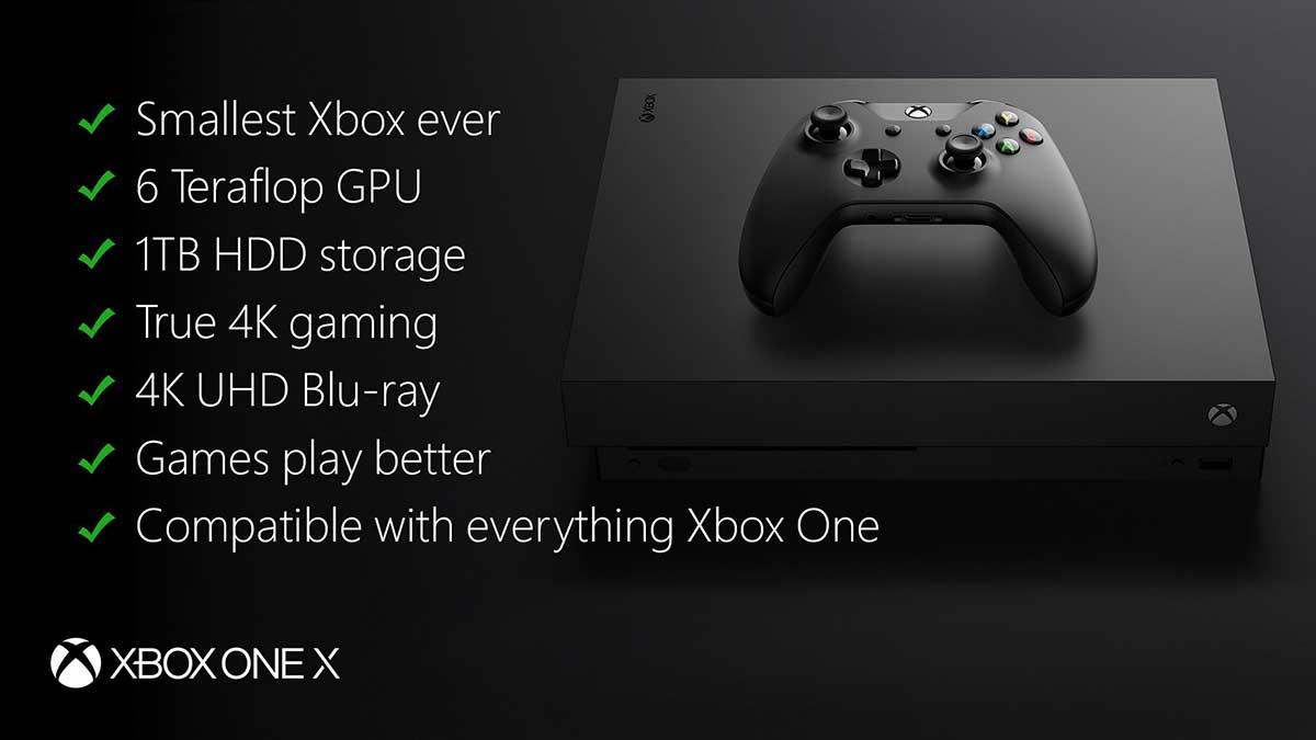 مواصفات Xbox One X