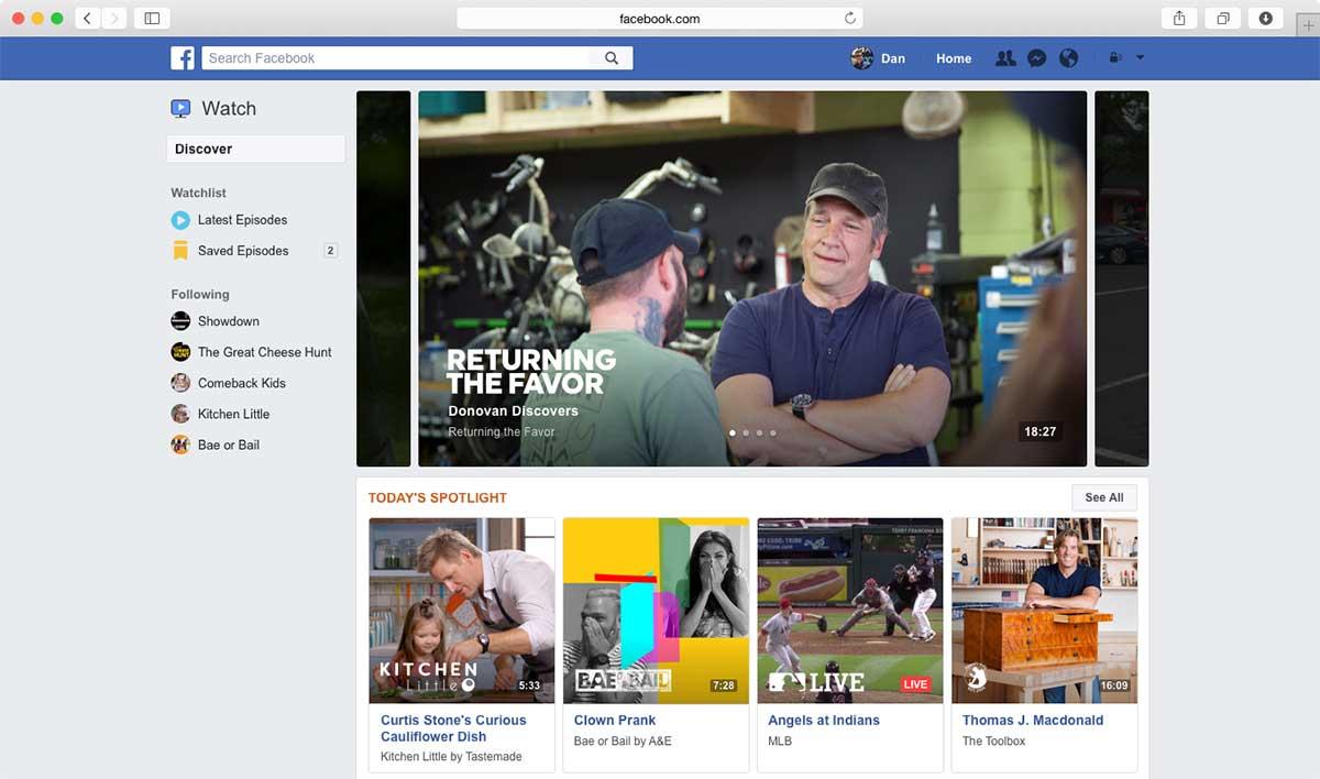 Facebook Watch: منصة فيديو من فيس بوك لمنافسة يوتيوب - صدى التقنية