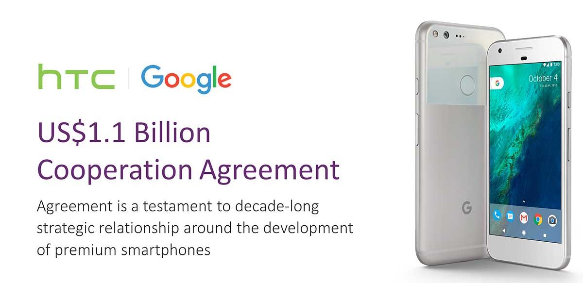 جوجل تستحوذ على 2000 من موظفي إتش تي سي مقابل 1.1 مليار دولار