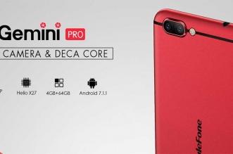 Ulefone Gemini Pro: هاتف بكاميرتين خلفيتين وسعر أقل من 270 دولار