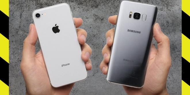 مقارنة بين ايفون 8 وجالاكسي اس 8: أيهما أفضل وأنسب للشراء؟