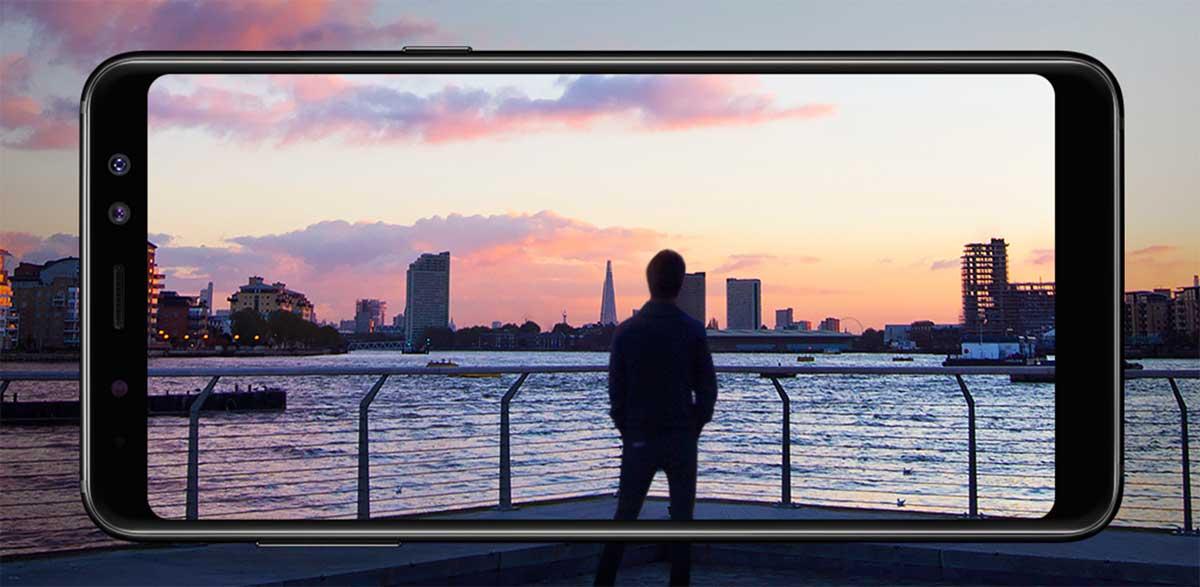 شاشة Galaxy A8 وGalaxy A8 Plus