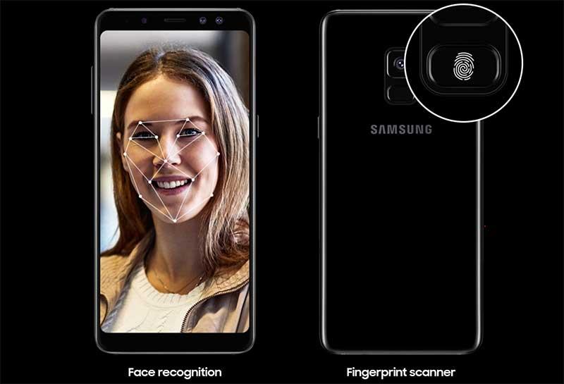 يدعم Galaxy A8 ميزة تأمين الهاتف عبر التعرف على الوجه