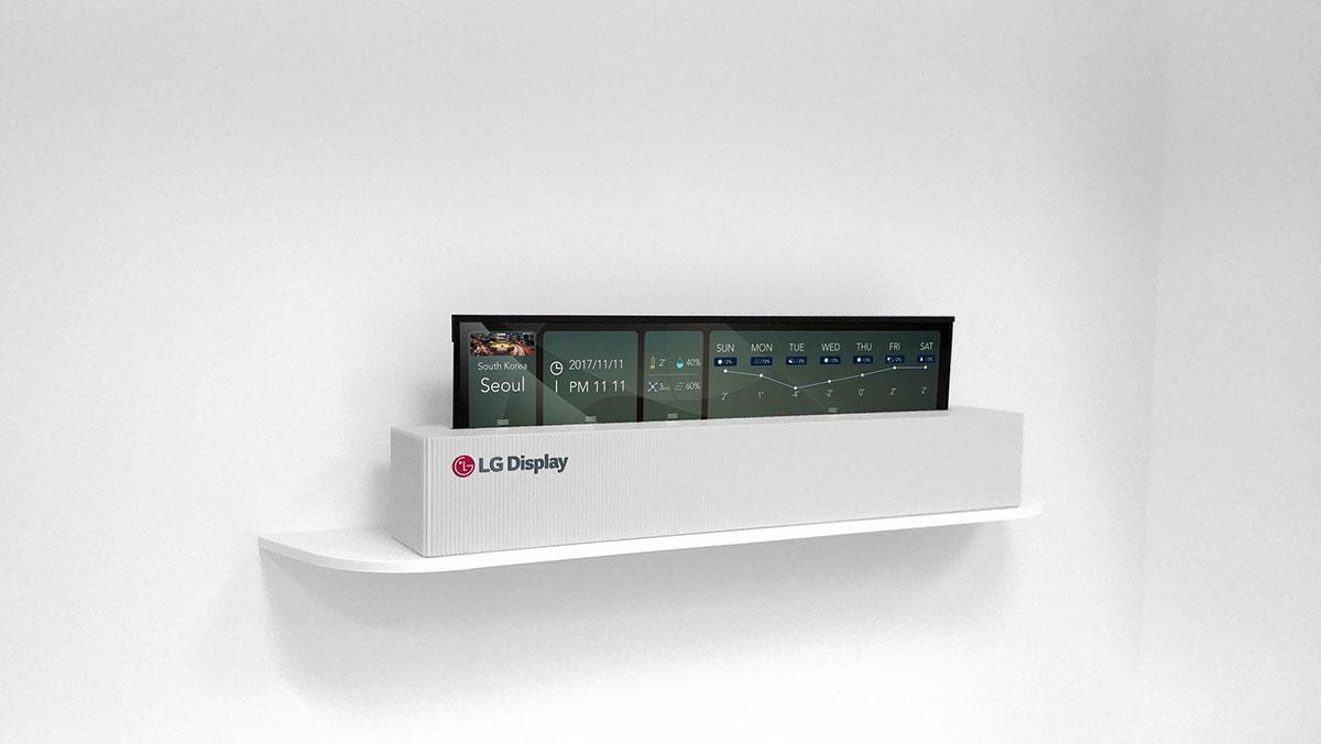 إل جي تكشف عن تلفزيون يحمل شاشة OLED قابلة للطي - صدى التقنية