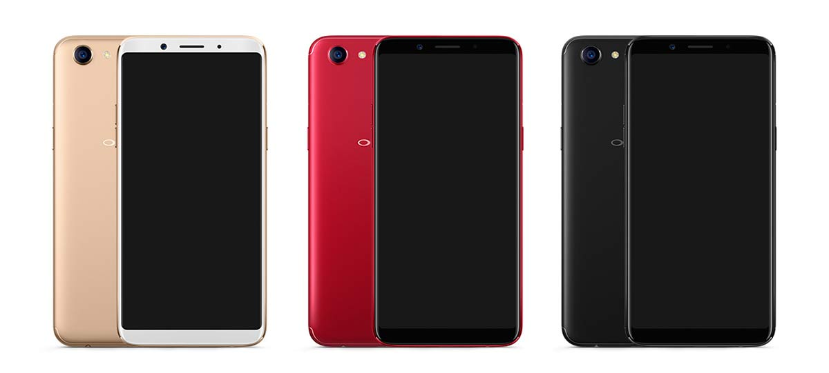 OPPO F5 COLORS الوان اوبو
