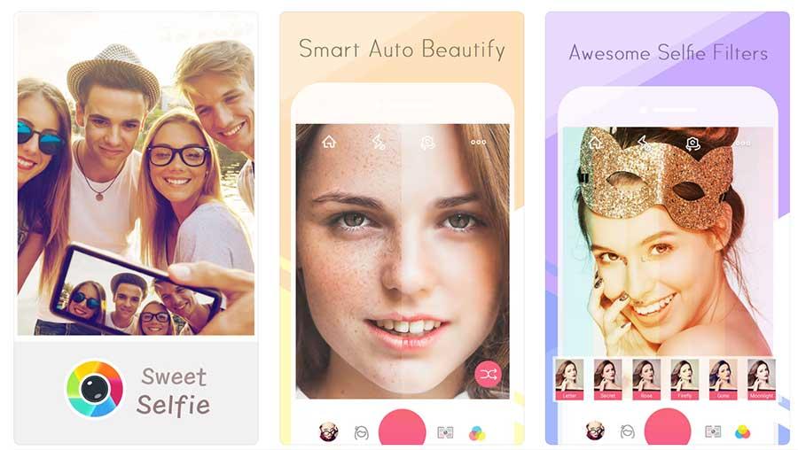 Sweet Selfie أفضل تطبيقات السيلفي