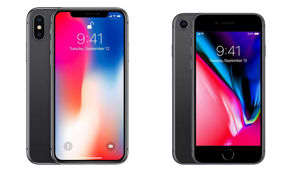 مقارنة بين ايفون 8 وايفون X