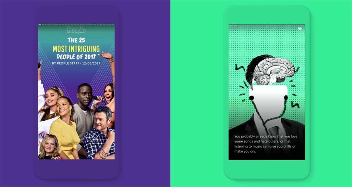 AMP stories: رد جوجل على قصص انستجرام وسناب شات - صدى التقنية
