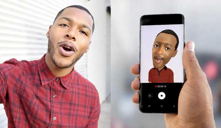 يدعم جالاكسي اس 9 بلس ميزةAR Emoji التي تحول صور السيلفي لشخصيات كارتونية