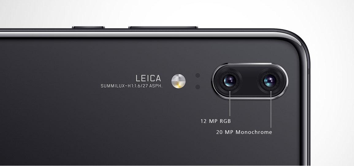 يحمل Huawei P20 هواوي بي 20 كاميرتين خلفيتين